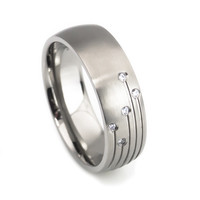 Men's wedding band unique design