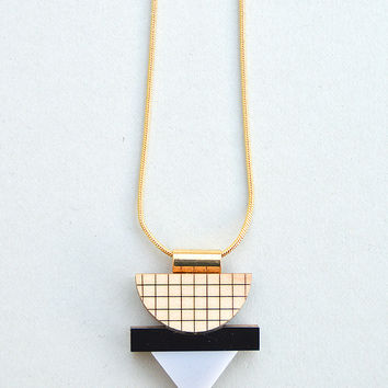 Mini Grid Necklace in Grey by Nylon Sky
