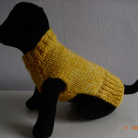 """dog sweater hand knit xs 9.5"""" teacup chihuahua etc.xs dog sweater, small dog coat, xs dog clothing"""