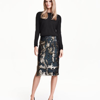 H&M Sequined Skirt $49.99