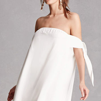 Self-Tie Off-the-Shoulder Dress