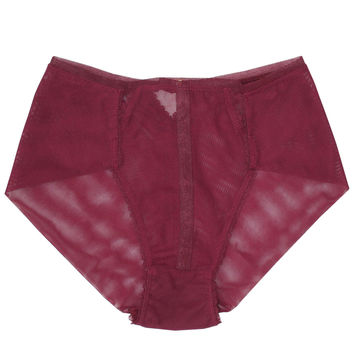 V-DAY SHIPPING Triangle High-Waist Panty - Burgundy Rose