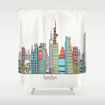 London city skyline Shower Curtain by Bri.buckley