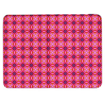 "Abstract Pink Floral Tile Pattern Samsung Galaxy Tab 7"" P1000 Flip Case"
