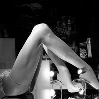 mannequin legs in stilettos  photograph black and white print 8x10""