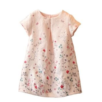 Pink Princess Flower Girl Dress Back To School
