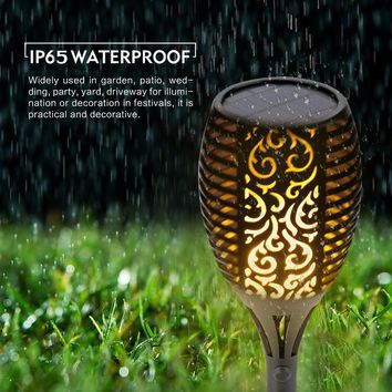 Solar Flame Flickering Garden LED light IP65 outdoor solar tiki torch light  Spotlights Landscape Decoration led Lamp