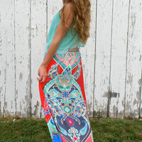 Follow Me Love Maxi Skirt: Multi