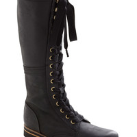 V: Industrial Evolution Boot in Black | Mod Retro Vintage Boots | ModCloth.com