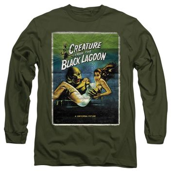 Creature from the Black Lagoon Long Sleeve Movie Poster Military
