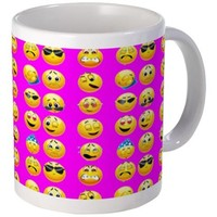 EMOJI PRINT | EMOJI DESIGN | FUNNY FACES Mugs
