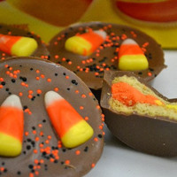 Candy Corn Chocolate Covered Oreos, Halloween candy, favors