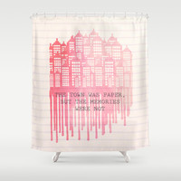 The Town Was Paper Shower Curtain by Anthony Londer | Society6