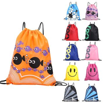 34*42cm Double Layer Drawstring Waterproof Backpacks Colorful Shoulder Bag Swimming Bags for Outdoor Sports