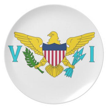 Virgin Islands Flag Plate