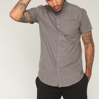 Andres Short Sleeve Woven Top - Grey
