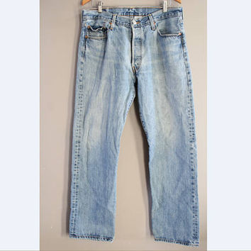 Levi's 501 W35 Vintage Levi's Jeans High Waist Mom Jeans Boyfriend Button Fly Hipster Boho #P039A