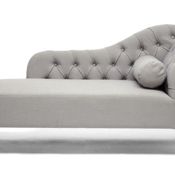 Wholesale Interiors Baxton Studio Aphrodite Tufted Chaise Lounge