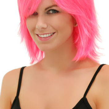 Pink Explosion Rocker Layers Wig
