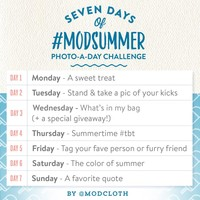 Announcing our #ModSummer Photo-a-Day Challenge on Instagram + A Special Giveaway!