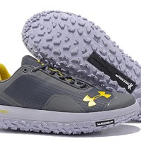 Under Armour Men's UA Overdrive Fat Tire Hiking Boots - Gray/Yellow Color Size US 7-11
