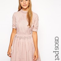 ASOS Petite | ASOS PETITE Exclusive Embroidered Lace skater Dress at ASOS