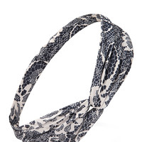 Knotted Floral Lace Headwrap