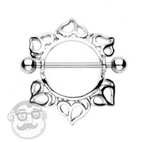 Hearts Nipple Ring Shield 14G | UrbanBodyJewelry.com