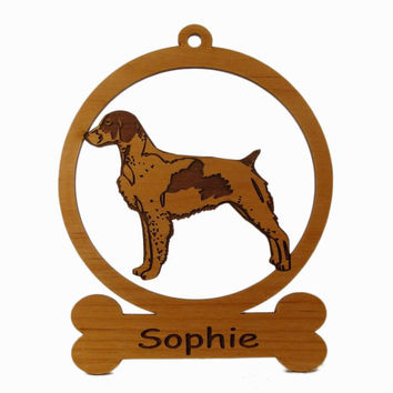 Brittany Spaniel Ornament 081989 Personalized With Your Dog's Name