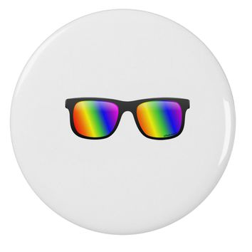"Pride Rainbow Lenses 2.25"" Round Pin Button by TooLoud"