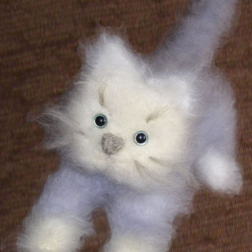 Hand knitted Cat - Stuffed Animal Baby Toy