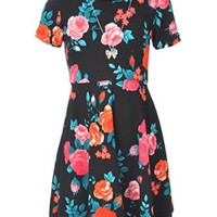 """George A Ltd Big Girls' """"Rose Society"""" Skater Dress with Necklace"""