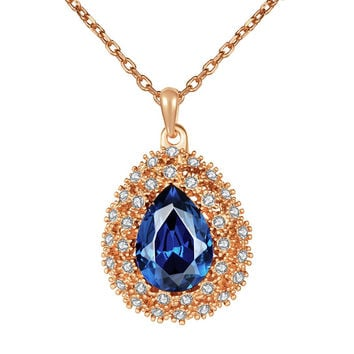 New 2016 Necklace Women jewelry 18K Gold necklaces & pendants TJFPBUIA