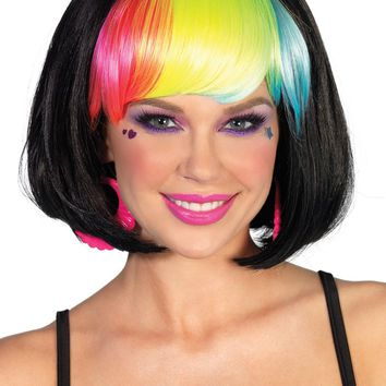 Leg Avenue Pop Rainbow Bang Bob Wig A1986