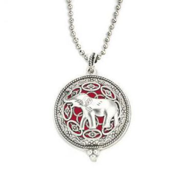 Deluxe Elephant Aromatherapy Necklace (perfect for Alabama Crimson Tide Fans)