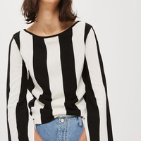 Topshop Stripe Split Sleeve Sweater | Nordstrom