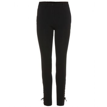 miu miu - crepe trousers with lace-up detail