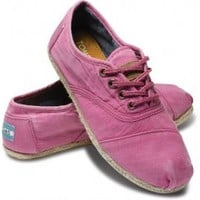 TOMS Shoes Pink Ceara Cordones Lace-Up Sneakers Women's Shoes,