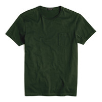 Men's Crew-Neck Short Sleeve Pocket T-shirts - Forest Green Color
