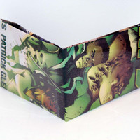 Comic Book Wallet// Green Lantern Corps// Soranik Natu, Guy Gardner, and Kilowog
