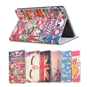 Fashion painted Pu leather stand holder Cover Case For Samsung Galaxy Tab Pro SM-T320 T321 T325 8.4 inch Tablet + Gift