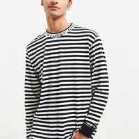 Stussy Jacquard Neck Long Sleeve Tee | Urban Outfitters