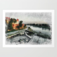 Cracow art 8 Wawel #cracow #krakow #city Art Print by jbjart