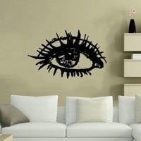 Housewares Wall Vinyl Decal Eye Open Girl Woman Home Art Decor Kids Nursery Removable Stylish Sticker Mural Unique Design for Any Room