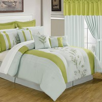 Hoyer 24-pc. Bed Set - King (Green)