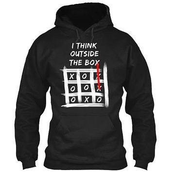 I Think Outside The Box Tic Tac Toe Tee