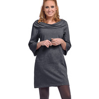 Ladies Daphne Dress in Charcoal Grey