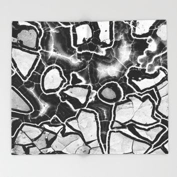Cracked Throw Blanket by UMe Images