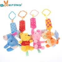 Lovely animal Baby Rattles Stroller Hanging Toys Plush Baby Mobiles Animal Campanula classic toys gifts for children