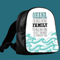 Ohana Means Family Lilo and Stitch for Backpack / Custom Bag / School Bag / Children Bag / Custom School Bag ***